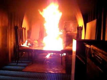 Incendio en el salón de tu casa, ¿qué haces?