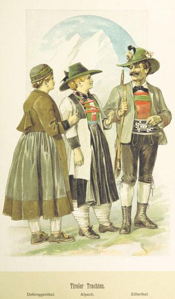 Symbolbild Trachten aus Tirol 19. Jahrhundert