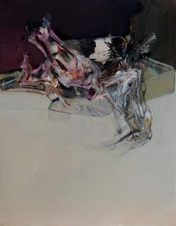 acrylique sur toile  dim 116cmx89cm