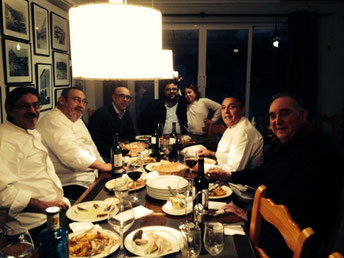 Un momento de la comida que nos ofreció Ángel Sapena