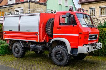 MAN 9.136 Feuerwehrfahrzeug mit Hifiumbau Aussenansicht