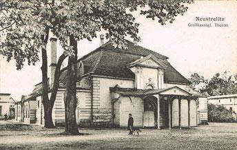 Das Gebäude des Großherzoglichen Hoftheaters, Wirkungsstätte von Professor Alban Förster.