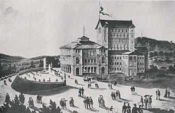 Das Bayreuther Festspielhaus. Hier gehörte Alban Förster als  Neustrelitzer Hofmusiker zum Orchester der Festspielpremiere.
