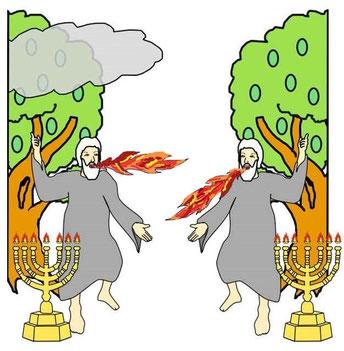 La bête qui monte de l'abîme va tuer symboliquement les 2 témoins, envoyés par Dieu pour rendre témoignage à la vérité biblique, ce qui plongera le monde dans l'obscurité spirituelle juste avant l'intervention du Royaume de Dieu.