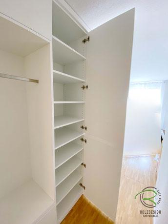 Garderobenschrank weiß mit Schuhschrank & offener Garderobennische mit Kleiderstange