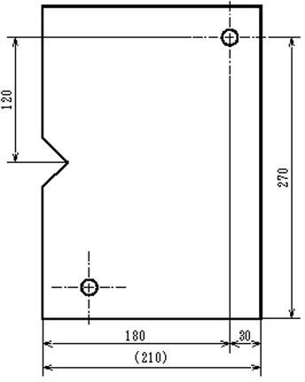 ピン位置を図面上で2つ目の原点として指定する寸法配置です。