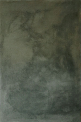 «A REAL SFUMATO» 150x100cm, 2019, graphite and powder marble on natural linen canvas