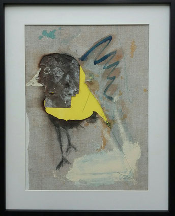 SOLD - Goldfinch (with frame)