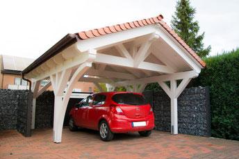 Spitzdach Carport