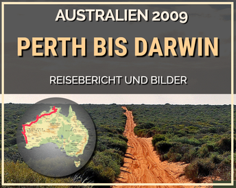 Perth, Darwin, Ningaloo Reef, Nambung, Cervantes, Geraldton, Exmouth, Cape Range, Monkey Mia, Shark Bay, Broome, Gibb River Road, Cape Leveque, Kakadu, Litchfield, El Questro, Windjana Gorge
