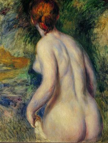 Desnudo de espaldas,1876.Óleo sobre lienzo 81x66cm.Tel Aviv Museum of Art.