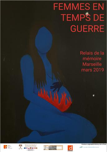 L'affiche se nomme « Nihad » est une peinture sur toile de 50X50 inspirés de la pièce de théâtre « INCENDIES »de Wajdi Mouawad réalisée par Anthony de La Rosa élève de 1ère L2 élève de la classe de français de Céline Denarie engagée dans le projet qui exp
