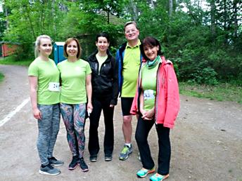 Das Palliativ-Team (von li.): Lucienne u. Mutter Sandra Barth, Steffi Kunz, Sven Gerard und Dr. Marion Brocke