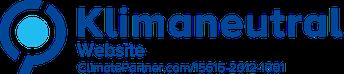 Label zur klimaneutralen Website.