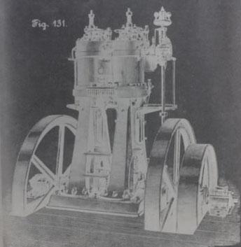 60-PS-Dieselmotor von MAN-Augsburg auf der 5. Pariser Weltausstellung im Jahr 1900.