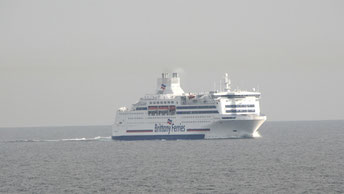 Normandie pictured in Summer 2015 during a sailing from Ouistreham to Portsmouth.
