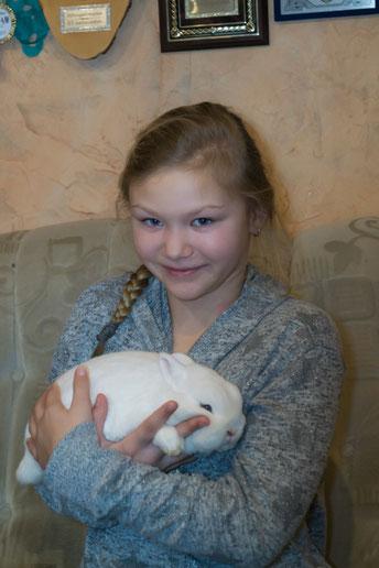 Kaninchenzüchterin Cynthia Eggert vom Kaninchenzuchtverein G87 Gardelegen e.V.
