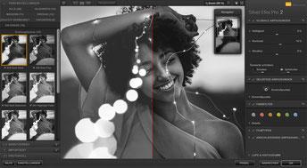 Bildschirmfoto der Software Silver Efex Pro