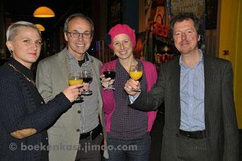 vlnr: Chris Van Roey, Luc Van de Casseye, An Van de Casseye en Yves Elegeert