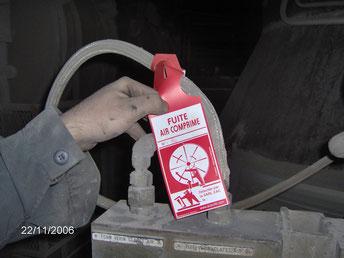 Détection de fuites air comprimé