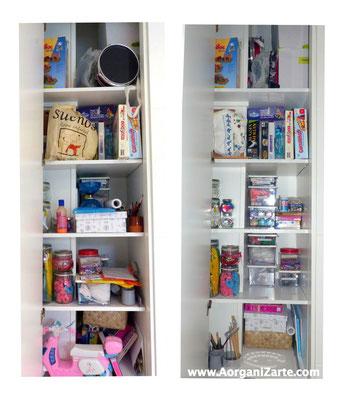 Organizar el armario de las manualidades - AorganiZarte