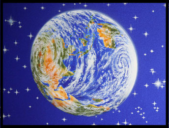 Vue de la terre depuis la constellation d'Orion