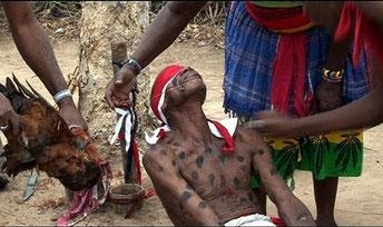 Un rituale magico nel Kenya rurale