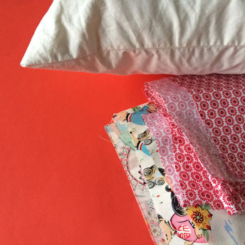 Zutaten für einen Kissenbezug