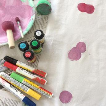 Textilentwurf und Stoffdruck selber machen