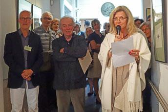 L'ambassadrice de Suède, le président et l'invité d'honneur 2016 de Pointe et burin