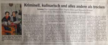 Lesung mit Manuela Krämer und Angela Eßer in Mering