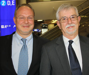 Martin Bittner (pictured left) took over from Mark Grinsted at GSA Globe Air Cargo  -  photo: hs