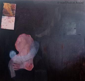 La Herida,  técnica mixta sobre lienzo, 130 x 135 cm.