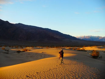 Photo credit: Steven. This was taken in Dec 2008, sunrise at Mesquite Flat Sand Dunes, Death Valley National Park