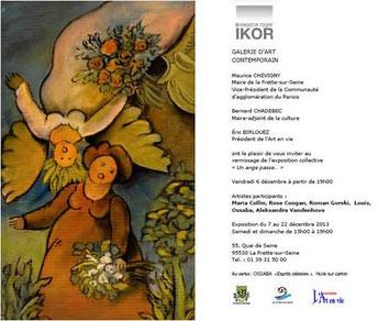 """2013 - """"Un ange passe"""", galerie Roger Ikor, La Frette-sur-Seine - Roman Gorski"""