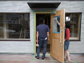 外壁のセルフ塗装工事