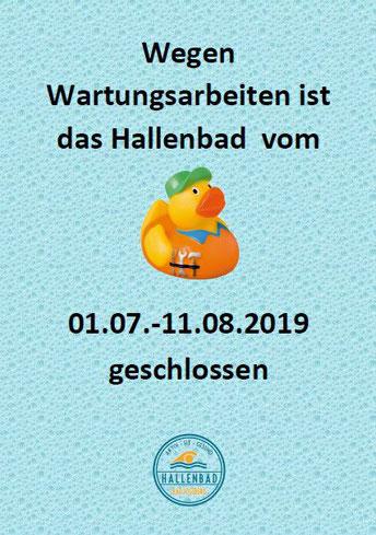 Poster Schließung Hallenbad Bad Segeberg