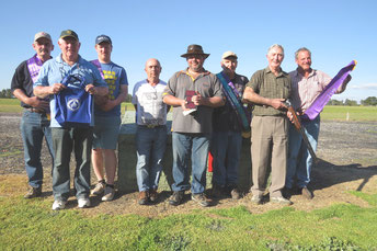 L to  R.   Peter Finn,  Dennis Savage,  Colin Finn,  Gil. Farish,  Royce Wojtowyez,  David Jackel,  Reg. Phefley,  Peter Roper.