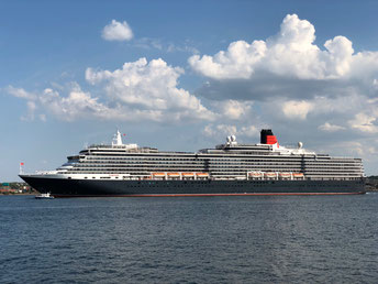 Die wunderschöne MS Queen Victoria in Kiel