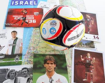 Eine Collage mit israelischen Fußballern