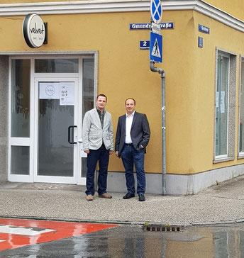 v.l.n.r. GR David Binder & Vzbgm. Michael Habenschuß