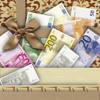 Euros als Flaschenetikett