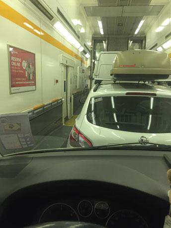 Hinfahrt Eurotunnel - Zeit für ein Powernapping