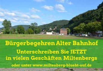 Miltenberg Bürgerbegehren zum alten Bahnhof
