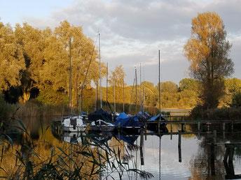 Segelboote im Erholungsgebiet Gaasperplas Amsterdam