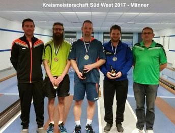 Kreismeisterschaft Kegeln Männer 2017 in Oberaltertheim