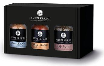 Ankerkraut Geschenkset Box Best of Ankerkraut mit 3 Gewürzen im Korkenglas