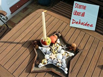 Bastelidee: Tischdekoration mit handgefertigtem kleinem 30 cm Stern