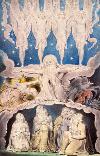 ウィリアム・ブレイク作「夜明けの星が相共に歌う時」