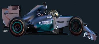 Nico Rosberg by Muneta & Cerracín - Nico Rosberg del Mercedes AMG Petronas F1 Team con su Mercedes F1 W05
